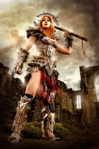 LittleBlondeGoth Cosplay as Barbarian