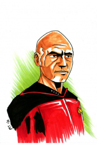 Jean-Luc Picard from The Krayola Kidd
