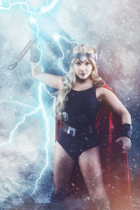Candy Valentina as Thor