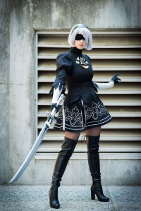 Pastel Jellies Cosplay as 2B