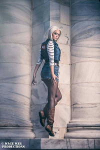 Ellei Marie as Android 18