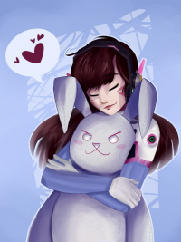 D.Va/Bunny from Poodled