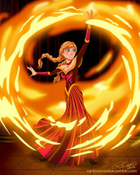 Anna of Arendelle/Firebender from Robby Cook