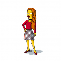 Cheryl Blossom/The Simpsons from Adrien Noterdaem