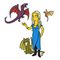 Daenerys Targaryen/The Simpsons from Adrien Noterdaem