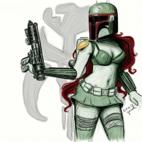 Boba Fett from The Artwork Of Kara Yowell