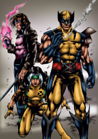 Gambit, Rogue, Wolverine from Marc Bourcier