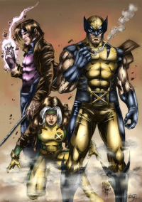 Gambit, Rogue, Wolverine from Cid-moreira12 (v