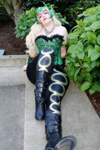 Nycci and Loch as Amora the Enchantress