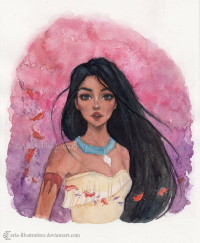 Pocahontas from Aria-illustration