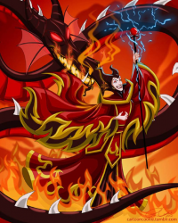 Maleficent/Firebender from Robby Cook