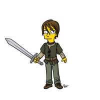 Arya Stark/The Simpsons from Adrien Noterdaem