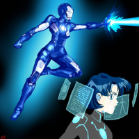 Sailor Mercury/Iron Man from Jei Shepard