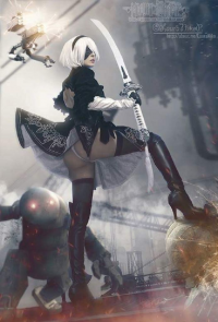 Kiss Shining Cosplay as 2B