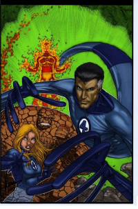 Reed Richards, Johnny Storm, Sue Storm, The Thing from Jorge Ramirez R