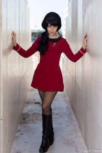 Red Enchantress Cosplay as Starfleet Officer