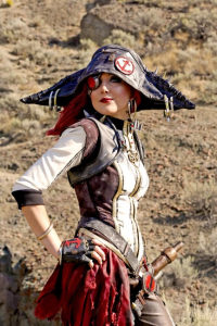 Tarah Rex Cosplay as Captain Scarlett