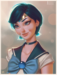 Sailor Mercury from Leandrofranci