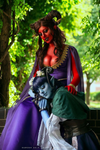 Ginny Diguiseppi as Jester, April Gloria as Marion