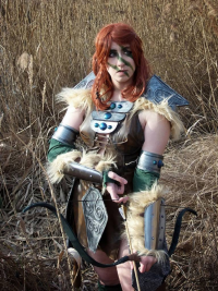 Tartan Banana as Aela the Huntress