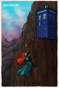 Princess Merida, TARDIS from Karen Hallion