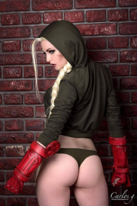 Maid of Might Cosplay as Cammy White