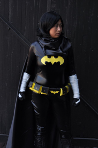 Catae-cosplay as Batgirl