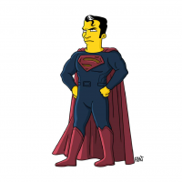 Superman/The Simpsons from Adrien Noterdaem