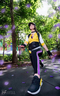 Reign Cosplay as Pokemon Trainer, Phantom Cosplay as Pokemon Trainer