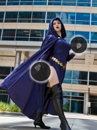Phillips Squared Cosplay as Raven