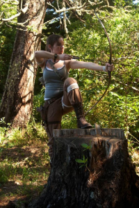 Bria-Silivren as Lara Croft