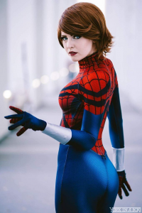 Maid Of Might Cosplay as Spider Girl