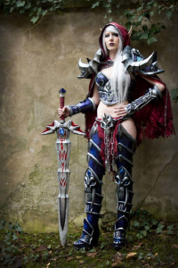 Laura Jansen as Blood Elf/Death Knight