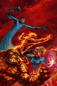 Reed Richards, Johnny Storm, Sue Storm, The Thing from Jb Casacop