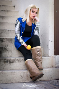 Lizzy Dcroown as Android 18