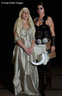 Red Star Cosplay as Daenerys Targaryen, Baroness Von T Cosplay as Khal Drogo