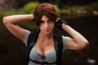Bad Luck Kitty as Lara Croft