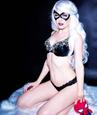 Maid Of Might Cosplay as Black Cat