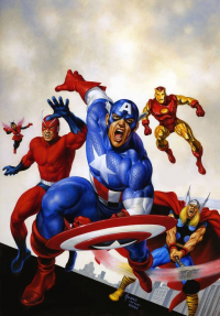 Thor, Iron Man, Captain America from Joe Jusko