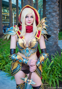 Andy Rae Cosplay as Blood Elf/Paladin