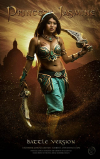 Gladzy Kei as Princess Jasmine/Battle Armor