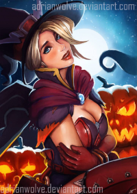 Mercy/Witch from Adrian Llobell