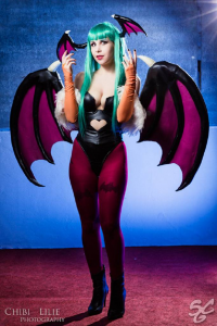 Brynhild Undómiel Cosplay as Morrigan Aensland