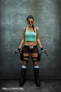 Ash Cosplay as Lara Croft