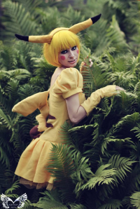 Ashtrayheartromina as Pikachu