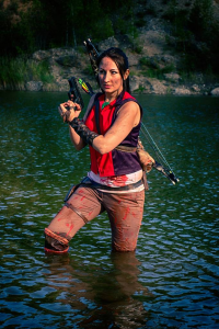 Franc1ne as Lara Croft