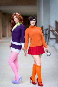 Karen Kap as Daphne Blake, Kristen Hughey as Velma Dinkley