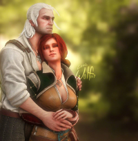 Geralt of Rivia, Triss Merigold from Lonewolf117