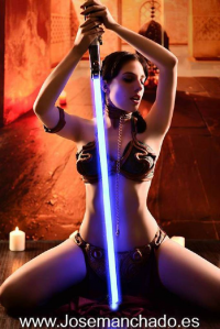 Veronica Sanchez as Leia Organa/Slave