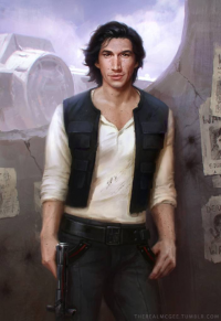 Kylo Ren/Han Solo from Therealmcgee